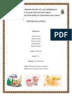 Informe Yogurt Queso