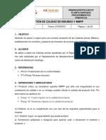 PHACCP-24 Gestión de Calidad de Insumos y MMPP