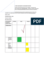 peer assessment achievement report