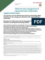2019 ESC Guidelines for the Management of SVT Supplementary Data