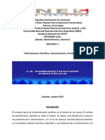 Trabajo de Administracion Cientifica, Caracteristicas y Fundamentos.