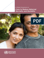 WHO-Preconception Care to Reduce Maternal and Childhood Mortality and Morbidity