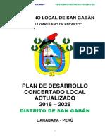 PDCL Actualizado Distrito San Gaban 2018-2028