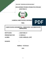 COMPUTACION E INFORMATICA-REDACCION Y DOCUMENTACION EMP. 2018-II.docx
