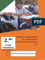 002 Prueba Salida de Matemática - Segundo Grado
