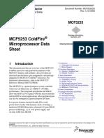 Datasheet mcf5253 coldfire microprocesor