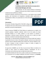 Defensa Colectiva Del Derecho Al Acceso de La Biodiversidad Biológica Del Maíz ICF