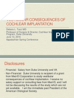 Vestibular consequences in CI