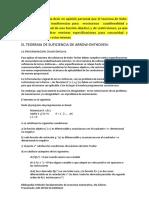 El Teorema de Suficiencia de Arrow Economia Matematica.