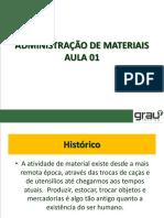 Administração de Materiais Aula 01 - Adm19