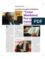 Revista Weekend su creación
