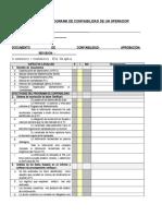 FORMA INAC-121-17A. PI AUDITORIA de Programas de Confiabilidad