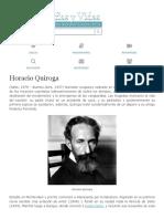 Biografia de Horacio Quiroga