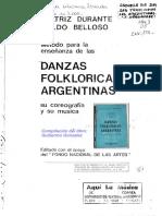 Método Para La Enseñanza de Las DANZAS FOLKLORICAS ARGENTINA - Beatriz Durante y Waldo Belloso (Sólo Las Coreos)