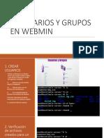 Creación de Usuarios y Grupos en Webmin