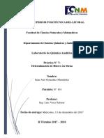 Práctica 7 - Química Analítica