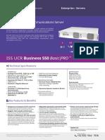 Issabel Appliances Datasheets ISS UCR Business 550 v1 5