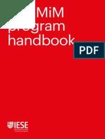 IESE B-school 2019-03-30 MiM Program Handbook Con ACADEMIC-RULES-REDV3