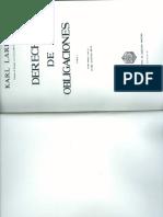 LARENZ, Karl. Livro 'Derecho de Obligaciones', Parcial.