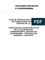 Plan de Trabajo Creacion