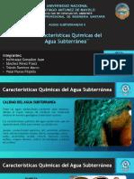 Carasteristicas Quimicas de Aguas Subterraneas