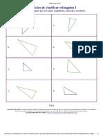 Hoja de Ejercicios Clasificar Triangulos Por Sus Lados