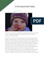 Developmental Tasks Theory