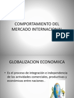 Comportamiento Del Mercado Internacional