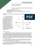 AutoCAD Coordinate Grid System