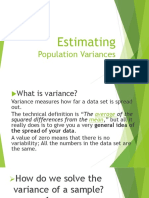 Estimating Population Variances