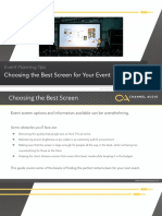 Choosing the Best Screen for Your Event