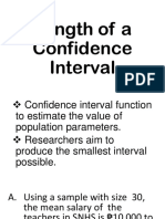 Length of a Confidence Interval