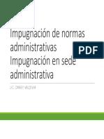 Impugnación de Normas Administrativas
