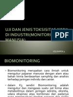 PPT KLP 5 Jenis Pengukuran Dan Toksisitas Kimia Di Industri -Monitoring Manusia- 1