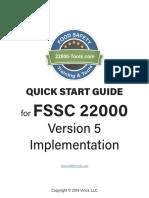 FSSC 22000 Version 5 Quick Start Guide
