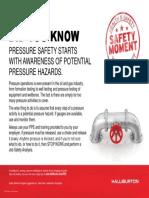Pressure Hazard Safety