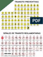 Señales de Transito Preventivas Reglamentarias e Informativas