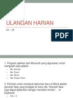 Soal Ulangan Harian 8a-8f