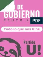Plan de Gobierno FEUCR 2020 - Partido U!