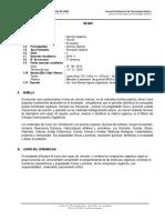Silabo de Química Orgánica - Tecnología Médica - 2019 -II