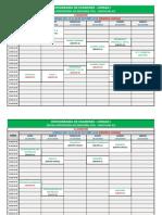 2018-II, Cronograma de Examenes Parciales - Unidad i