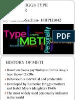 Myers Briggs type indicator presentation