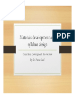 TEFL - Syllabus Design and Material Development