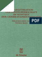 Genealogie Und Herrscherlegitimation In Aischylos Persern