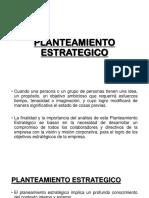 PLANTEAMIENTO ESTRATEGICO