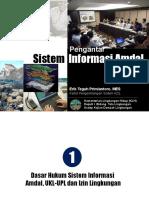 020- Pengantar Sistem Informasi Amdal-UNLAM 21 April 2014.pptx