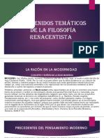 Contenidos Temáticos Preliminares de La Filosofía Renacentista