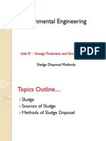 4.10 Sludge Disposal Methods
