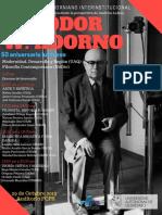 PRIMER COLOQUIO ADORNIANO INTERINSTITUCIONAL Theodor W. Adorno en su 50 aniversario luctuoso 29 oct. 2019, Universidad Autónoma de Querétaro, Facultad de Ciencias Políticas y Sociales, Auditorio