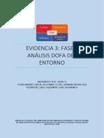 Evidencia 3 Fase I, Análisis DOFA del entorno.docx